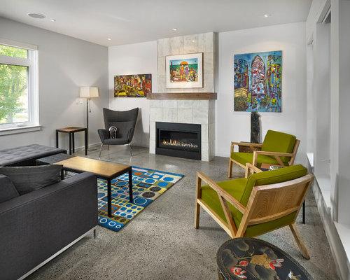 delightful white living room gray sofas suspended shelving | Charcoal Sofa | Houzz