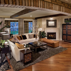 mediterranean living room by Celebrity Communities