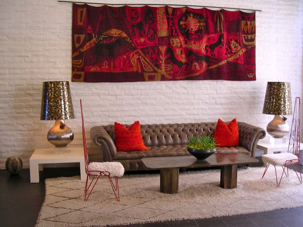 Eclectic Living Room The Parker Palm Springs/Becky Harris