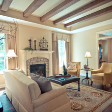 Traditional Living Room by Troxel Custom Homes