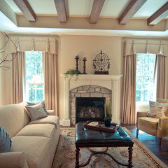 traditional living room by The Troxel Company