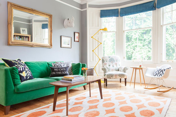 Eclectic Living Room by Susie Lowe Photography