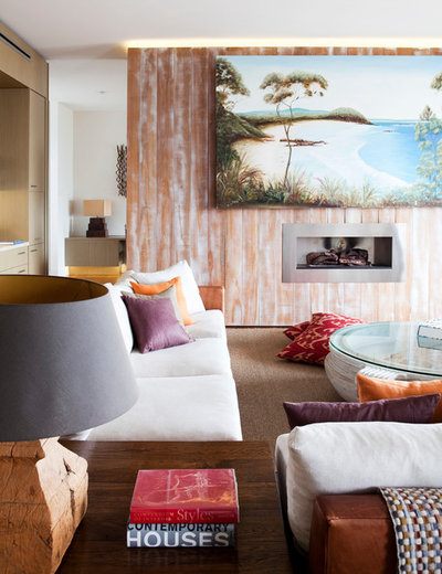 Beach Style Living Room by Alwill Interiors