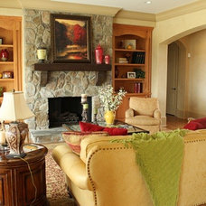Traditional Living Room by Charlotte Innovative Interiors