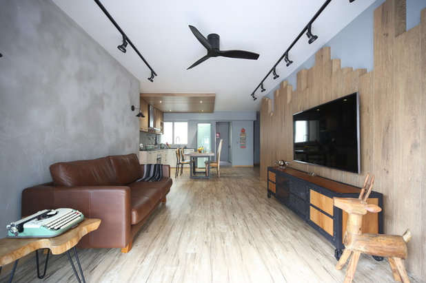 Houzz Tour A 5 Room Hdb Flat Becomes A Rustic Country Retreat