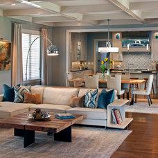 Transitional Living Room by Allard & Roberts Interior Design, Inc
