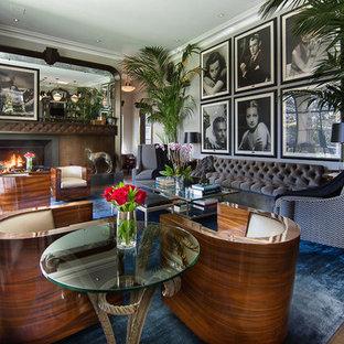 Großes, Offenes Klassisches Wohnzimmer in Los Angeles