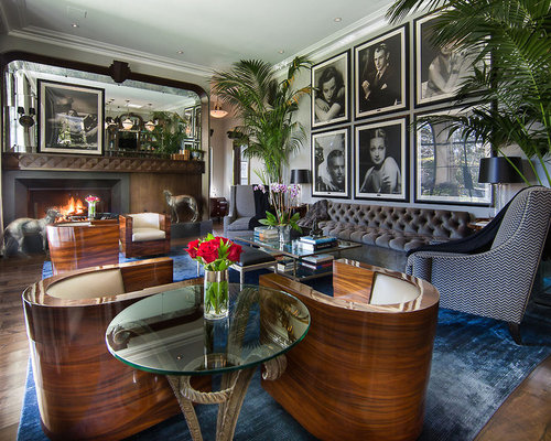 Hollywood glam houzz for Hollywood glam living room ideas