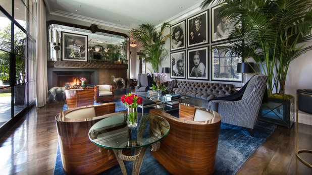 Borrow From Art Deco for Living Room Glam