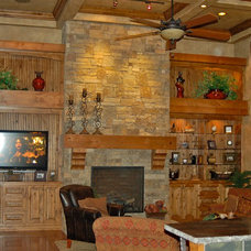 Traditional Living Room by B.L. Rieke Custom Home Builders