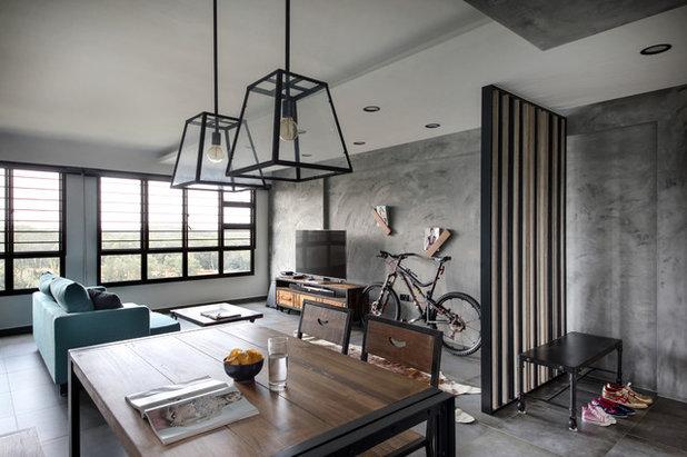 Industrial Living Room by Versaform