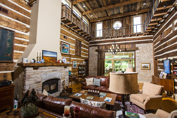 Spectacular Rustic Living Room by Wilmes u Associates Architects