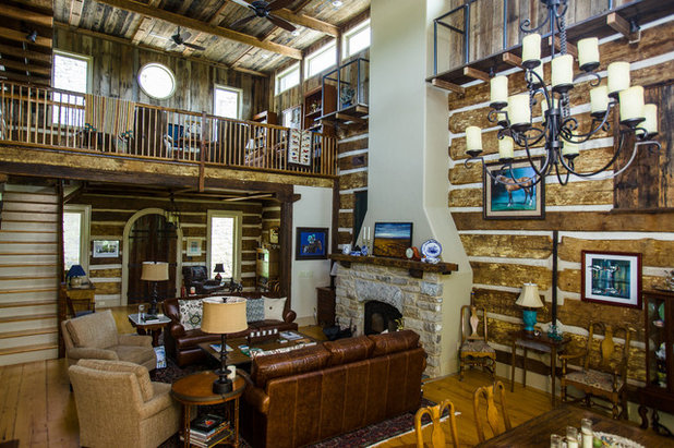 Rustic Living Room by Wilmes & Associates Architects