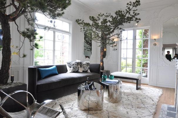 Contemporary Living Room The Salon by Leverone Design