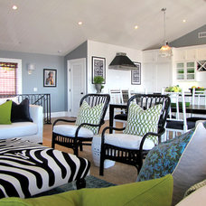 Beach Style Living Room by Tara Bussema - Neat Organization and Design