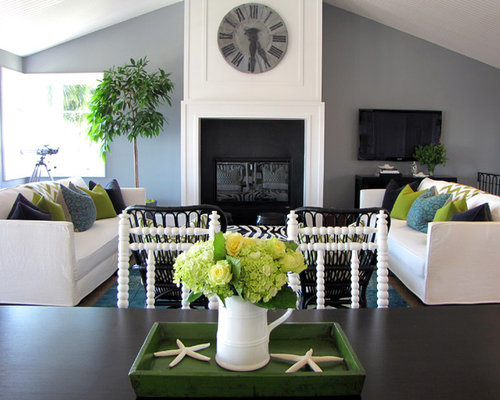 Navy blue lime green accents home design ideas pictures for Lime green home decorations