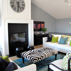 eclectic living room by Tara Bussema