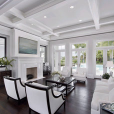 Transitional Living Room by Clive Daniel Home