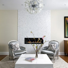 Transitional Living Room by Barroso Homes