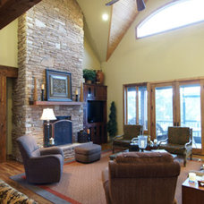 Traditional Living Room by Donald A. Gardner Architects