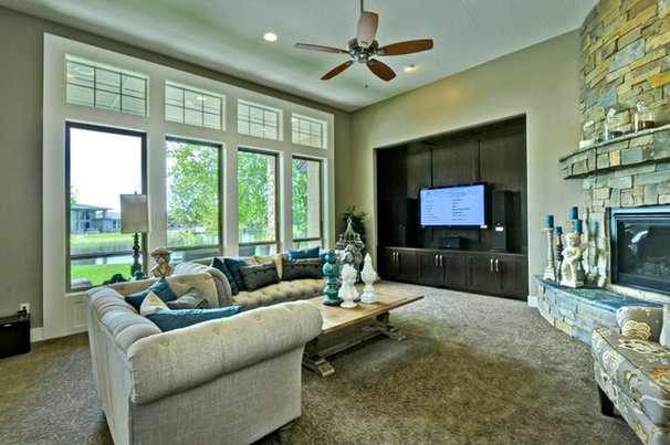 Traditional Living Room by Boise Hunter Homes