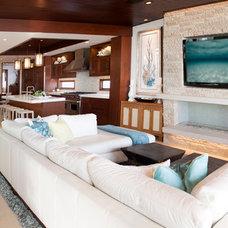 Contemporary Living Room by KKC Fine Homes