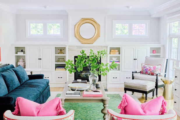 Transitional Living Room by Blakely Interior Design