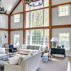 Traditional Living Room by Yankee Barn Homes