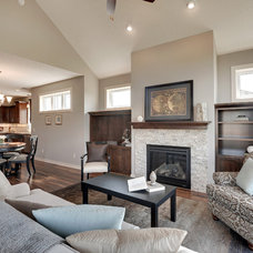 Transitional Living Room by Iverson Homes