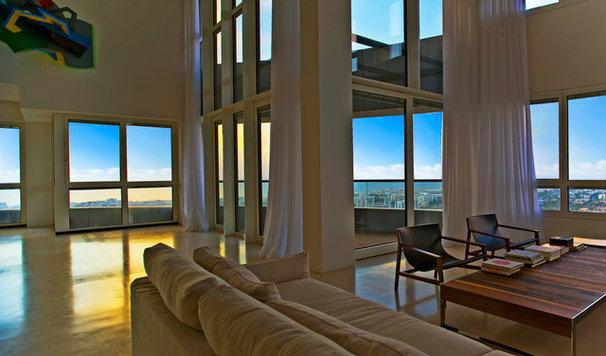 Contemporary Living Room by Yaniv Schwartz - Photographer
