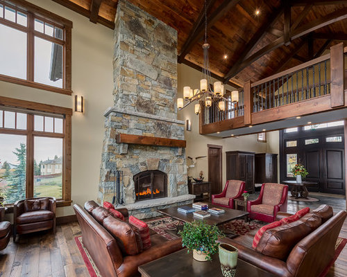 50 Best Large Rustic Living Room Pictures - Large Rustic Living Room ...