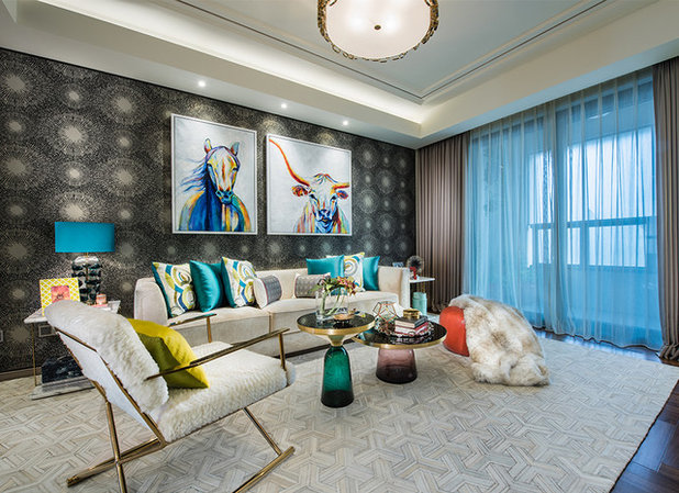 Contemporary Living Room By ARK Interior Design Pte Ltd