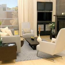 Modern Living Room by BARRETT STUDIO architects