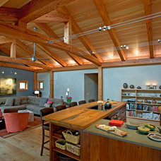 Contemporary Living Room by New Energy Works Timberframers