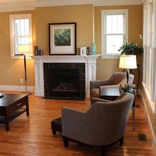 Craftsman Living Room by Progress Street Builders