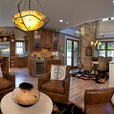 Craftsman Living Room by Brookstone Builders