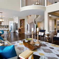 Contemporary Living Room by Morrison Homes