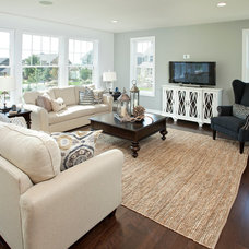 Transitional Living Room by Homes by Tradition