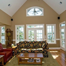 Traditional Cathedral Ceiling Living Room Design Ideas
