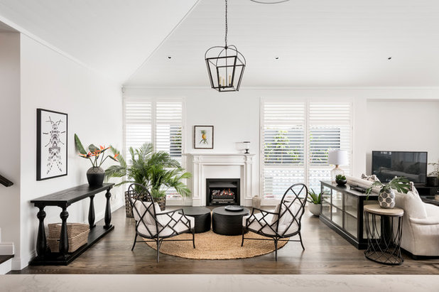 Transitional Living Room by Oswald Homes
