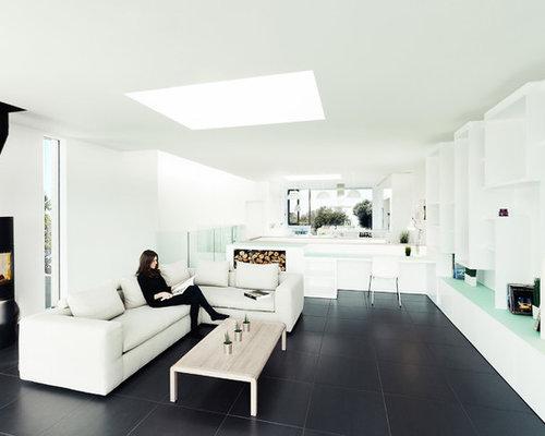 black tile floor | houzz