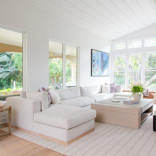Inspiration for a modern living room remodel in Philadelphia