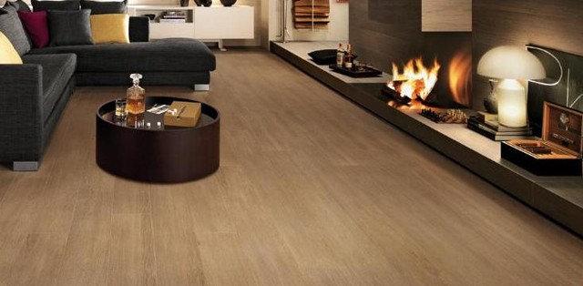 Modern Living Room by Horizon Italian Tile