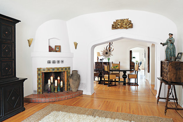 Mediterranean Living Room by Home Front Build