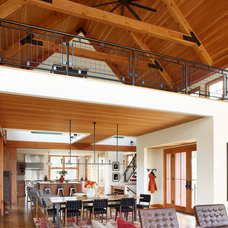 Farmhouse Living Room by Northworks Architects and Planners