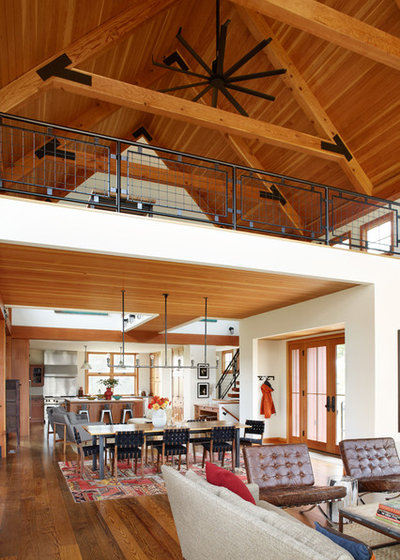 Farmhouse Living Room by Northworks Architects + Planners