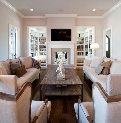 Traditional Living Room by P. Shea Design