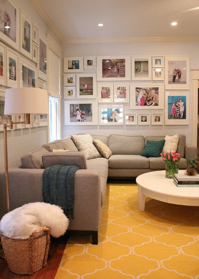 Transitional Living Room by Kelly Brown Interiors