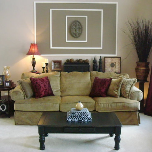 Example Of A Classic Living Room Design In Indianapolis With Beige Walls