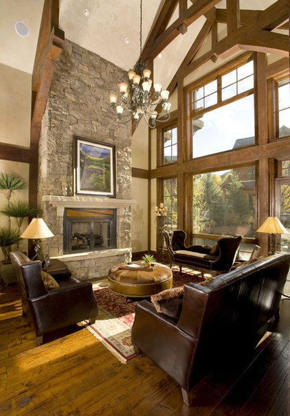 Traditional Living Room by David Johnston Architects